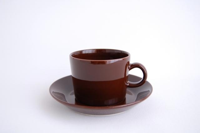 iittala/イッタラ TEEMA/ティーマ ティーカップ&ソーサー ブラウン 001