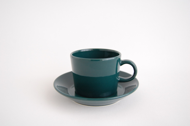 ARABIA/アラビア TEEMA/ティーマ コーヒーカップ&ソーサー グリーン 001