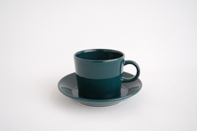 ARABIA/アラビア TEEMA/ティーマ コーヒーカップ&ソーサー グリーン 002
