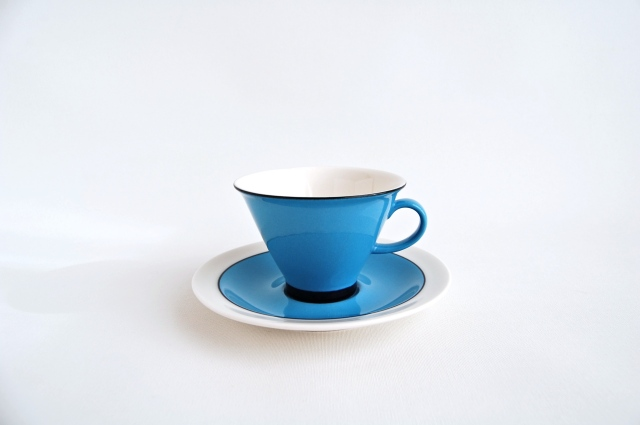 ARABIA/アラビア Harlekin Turkos コーヒーカップ&ソーサー 004