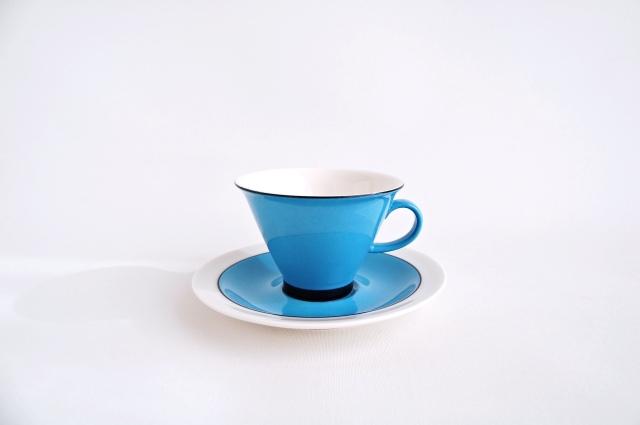 ARABIA/アラビア Harlekin Turkos コーヒーカップ&ソーサー 002