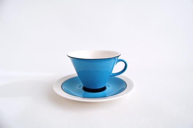 ARABIA/アラビア Harlekin Turkos コーヒーカップ&ソーサー 003