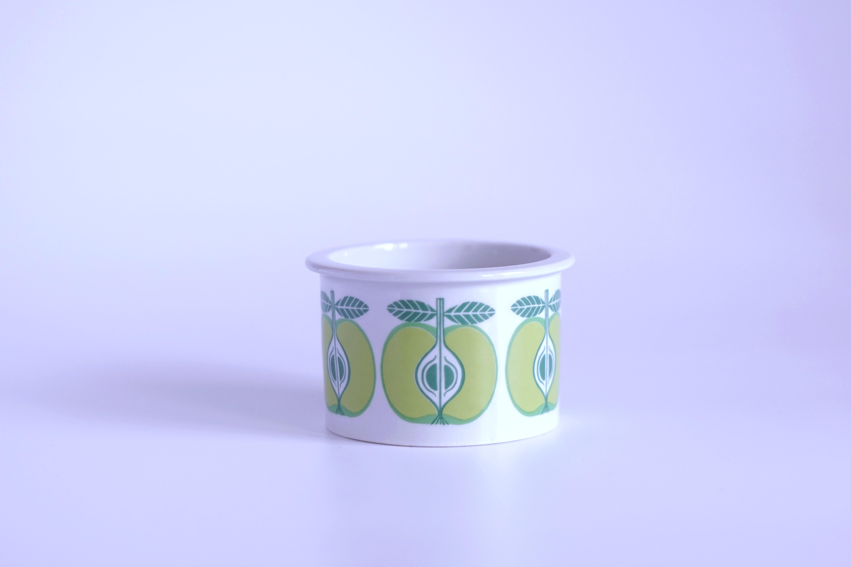 ARABIA/アラビア Pomona/ポモナ 青リンゴ ジャムポット