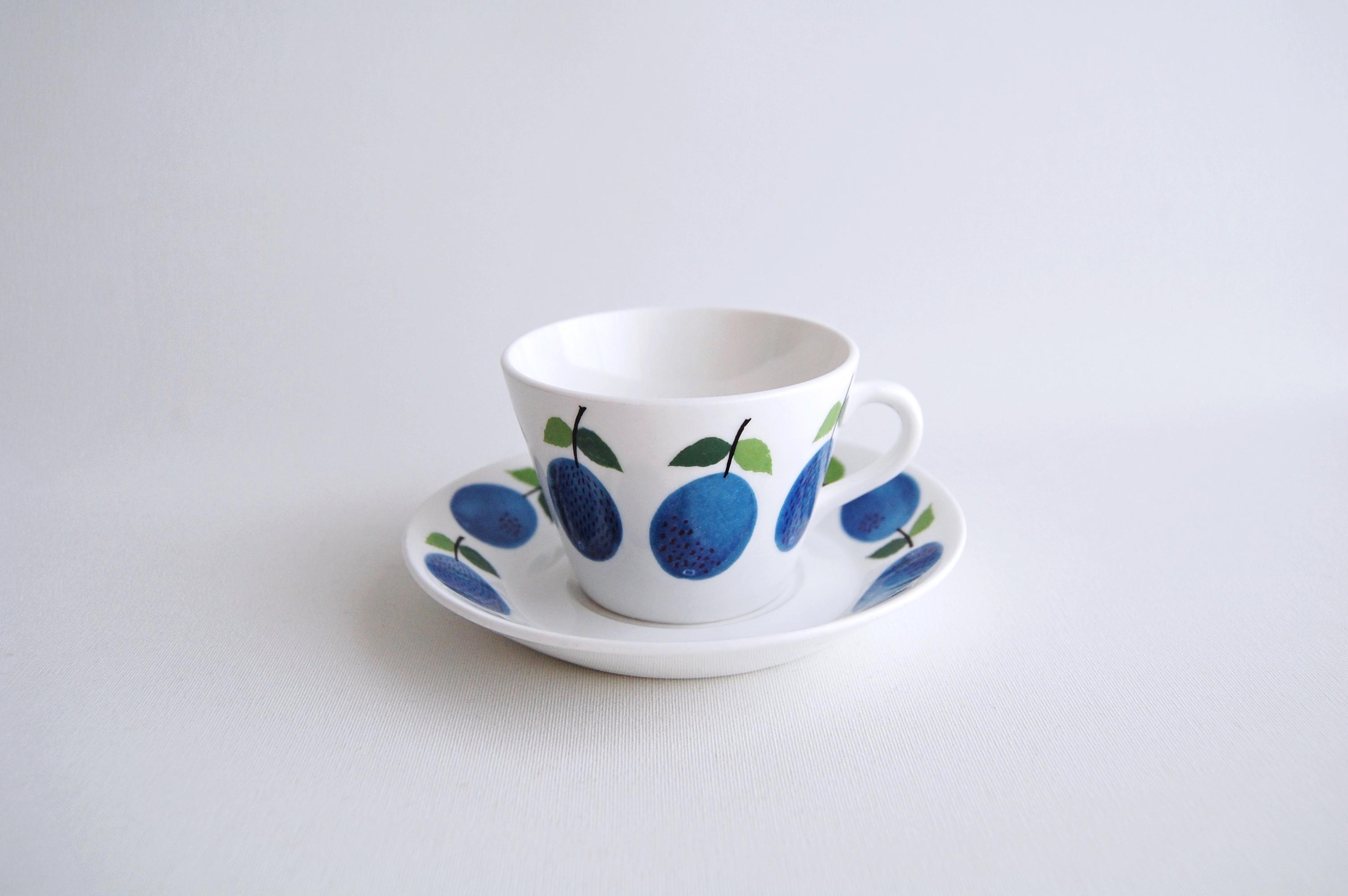 GUSTAVSBERG/グスタフスベリ Prunus/プルーヌス コーヒーカップ&ソーサー 012