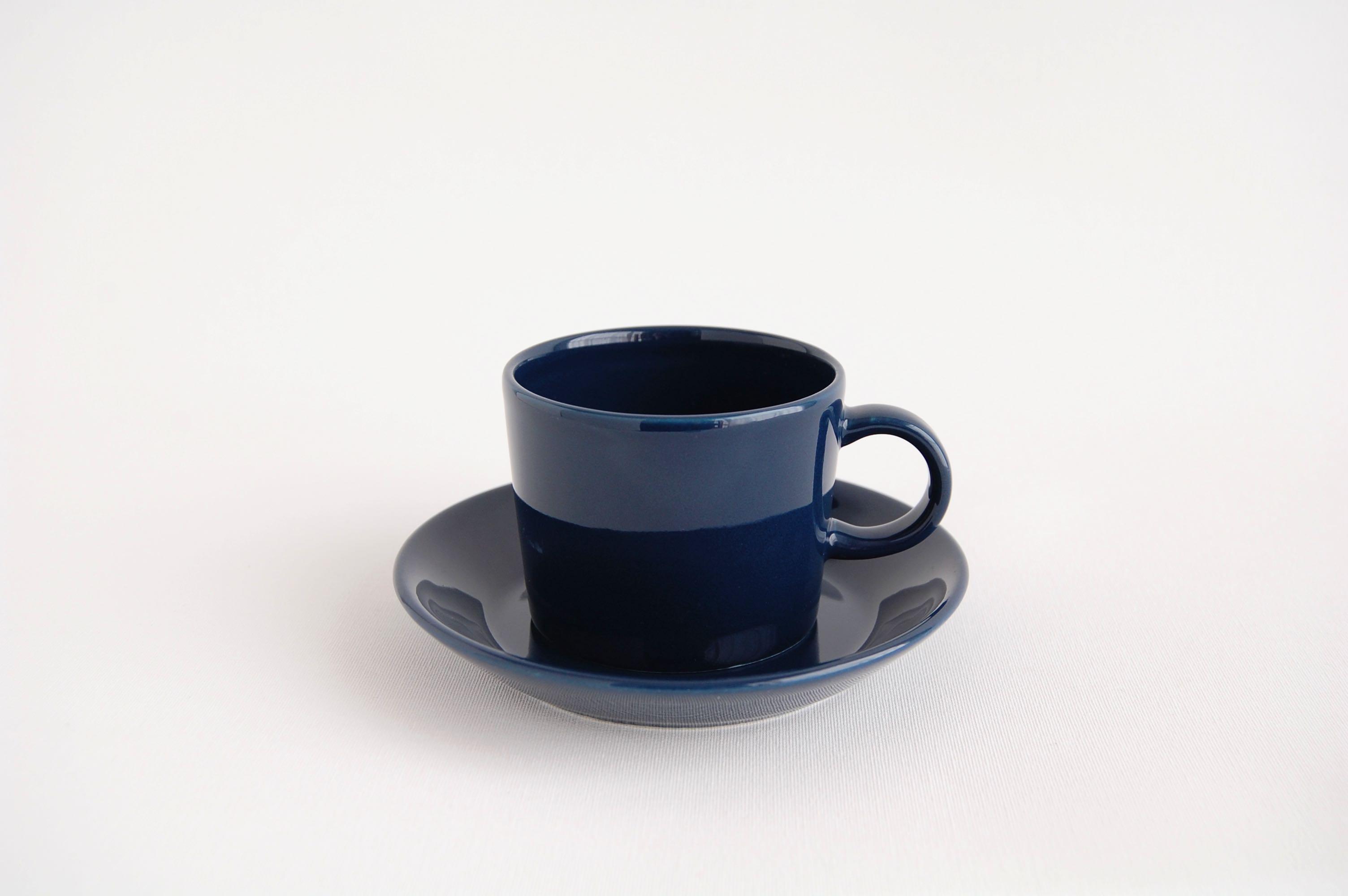 ARABIA/アラビア TEEMA/ティーマ コーヒーカップ&ソーサー ブルー001
