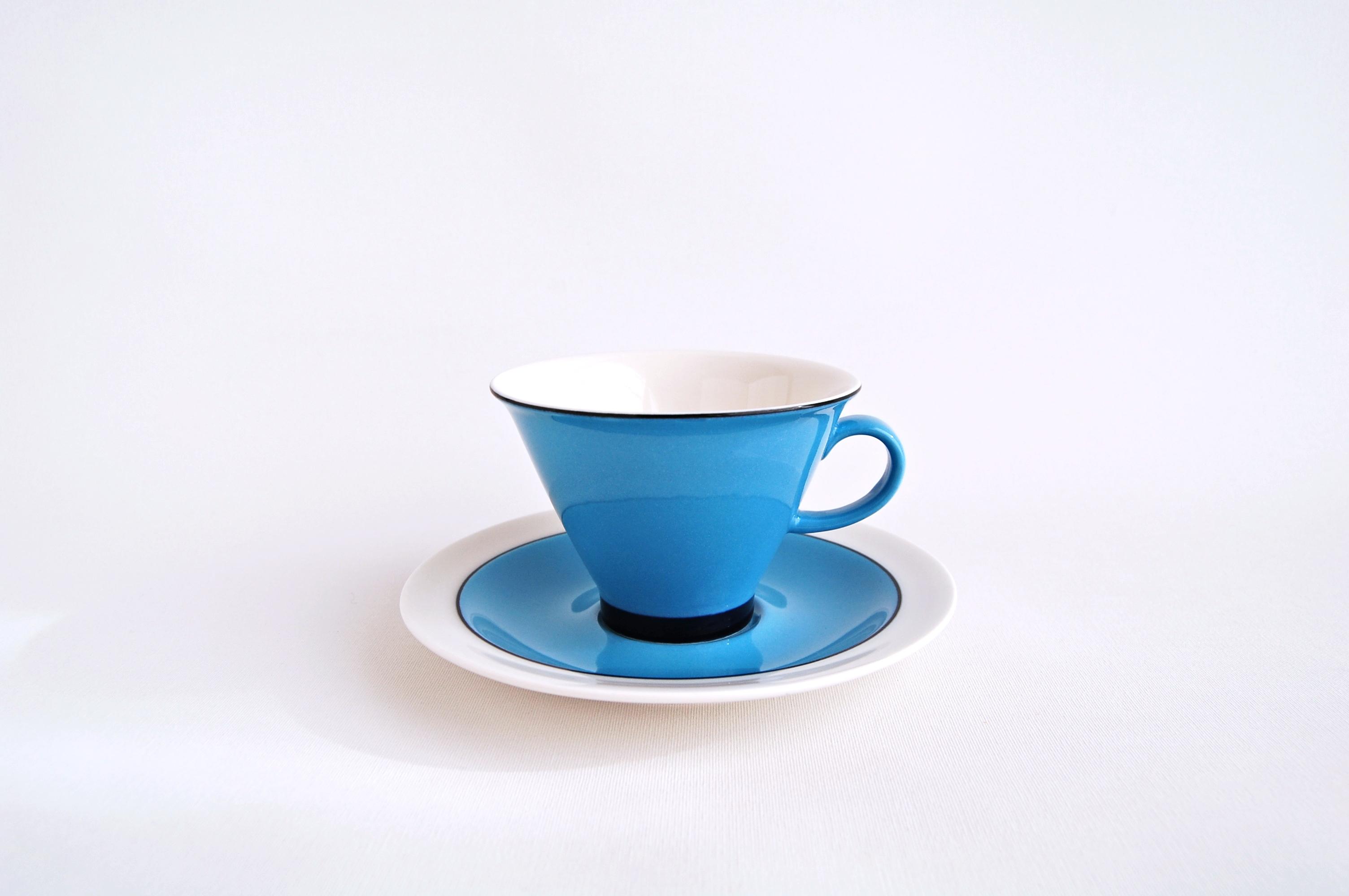 ARABIA/アラビア Harlekin Turkos コーヒーカップ&ソーサー 001