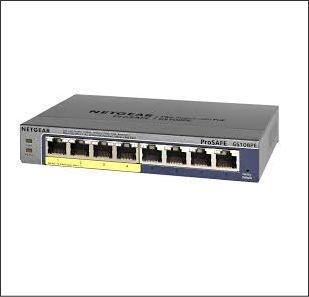 GS108PE/ネットギア製PoE給電ギガビット対応スイッチングハブ