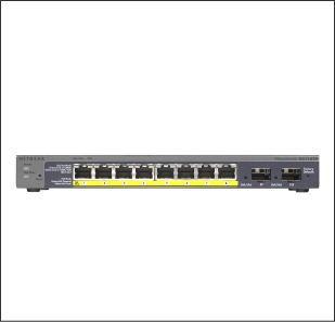 GS110TPネットギアPoE対応ハブ