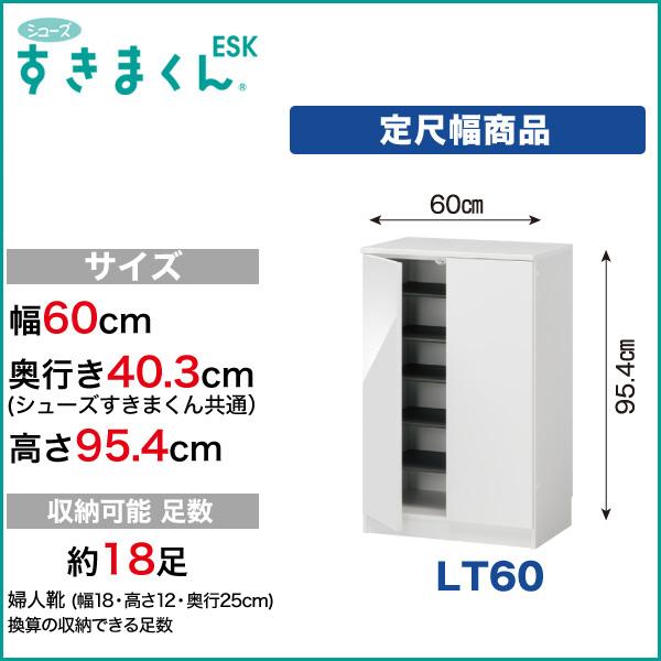 玄関収納 下駄箱 シューズすきまくん ESK 定尺幅商品 扉タイプ LT60 幅60cm 奥行き40.3cm 高さ95.4cm