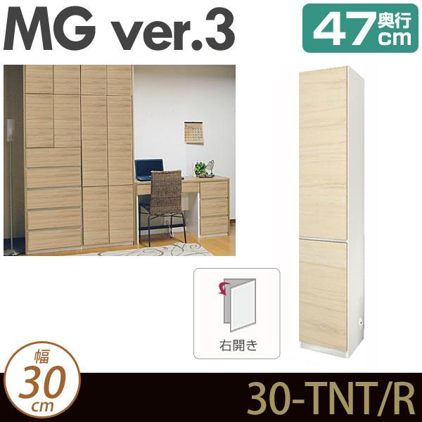 [幅30cm]壁面収納 キャビネット 【 MG3 】 板扉 (右開き) 幅30cm 奥行47cm ウォールラック D47 30-TNT-R MGver.3