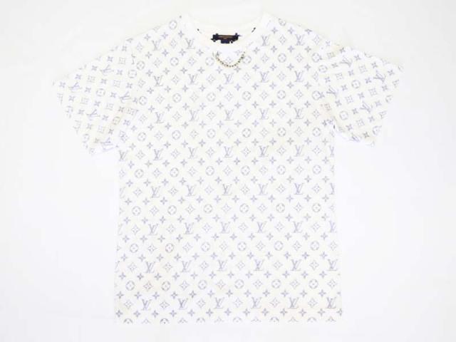 〇新着 送料無料【LOUIS VUITTON ルイヴィトン】エスカル 半袖 Tシャツ  サイズM ホワイト×ネイビー レディース 10162-0