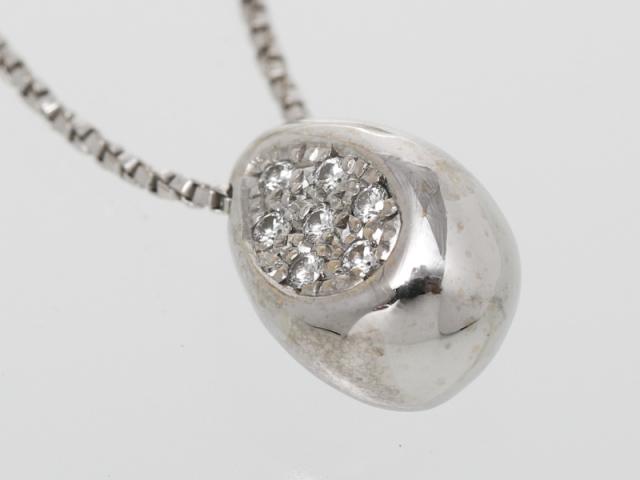 〇新着【Jeunet ジュネ】K18WG ホワイトゴールド ネックレス 42cm ダイヤモンド0.08ct 6.3g レディス 10490-0