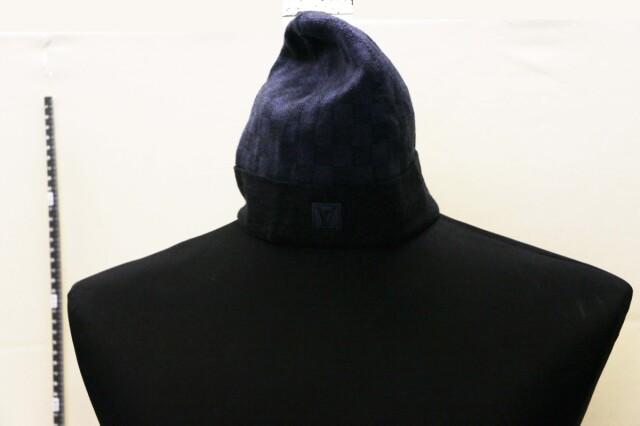 【LOUIS VUITTON ルイヴィトン】ボネプティダミエ M70009 ニット帽 ウール イタリア製 11833-0