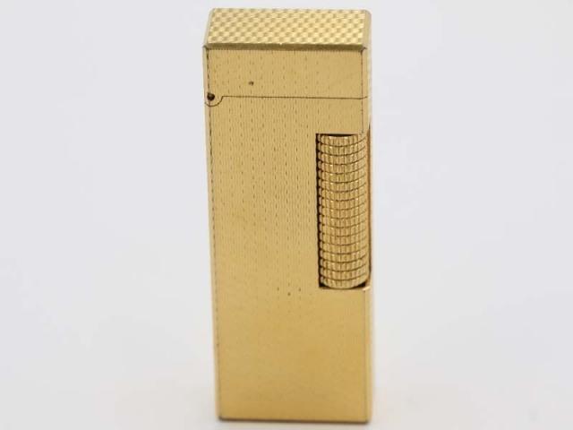 〇新着【dunhill ダンヒル】USRE24163 ローラーガスライター 着火可能 ゴールドカラー 11808-0