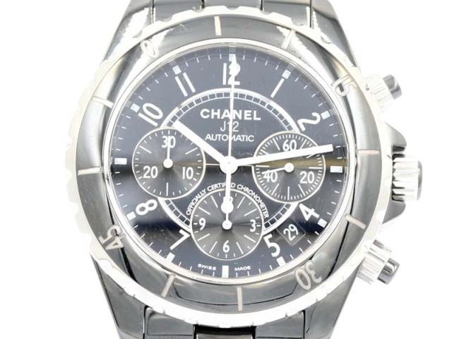 【CHANEL シャネル】H0940 J12 黒セラミック 自動巻 クロノグラフ デイト メンズ 保 新着 12228-0