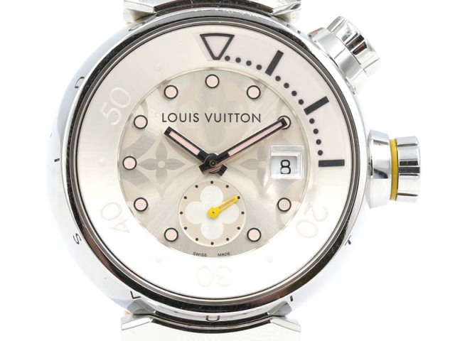 【ルイヴィトン LOUIS VUITTON】Q131M タンブールダイビング 32mm SS/革 デイト クォーツ レディス 新着 12758-0