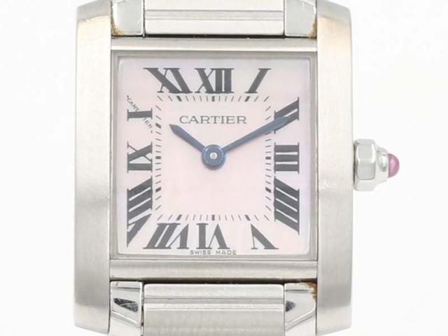 【カルティエ CARTIER】W51028Q3 タンクフランセーズSM 20mm SS/ピンクシェル レディス 新着 12774-0