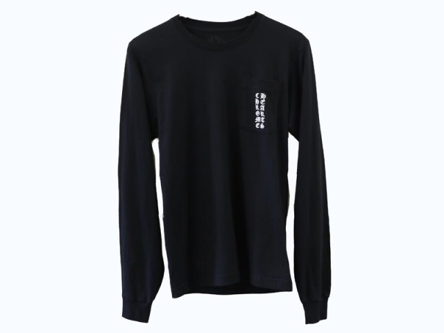 〇新着 値下げ 送料無料【Chrome Hearts クロムハーツ】ロゴ 長袖 ロング Tシャツ Sサイズ ブラック アメリカ製 メンズ 13188-0