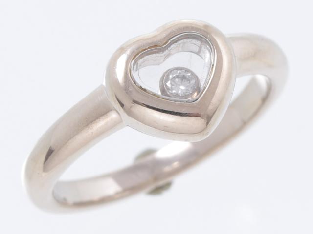 ☆新着セール 送料無料【CHOPARD ショパール】82/4854 K18WG ホワイトゴールド ハッピーダイヤ 指輪 リング 6号 4.8g レディス 2140-0