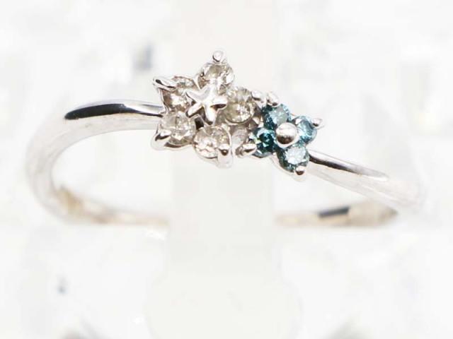 ☆新着 送料無料【K18WG (ホワイトゴールド)】 指輪 リング ダイヤモンド0.15ct 1.6g 8号 レディース 5242-0