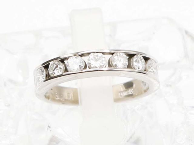 ☆新着 送料無料【K18WG (ホワイトゴールド)】 指輪 リング ダイヤモンド0.529ct 3.2g 7.5号 レディース 5390-0