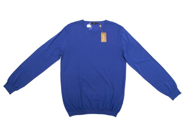 〇新着 送料無料【GUCCI グッチ】221752 5976 ウールニット 長袖セーター ブルー サイズXL メンズ 5947-0 【中古】