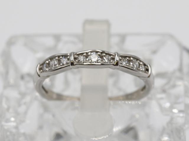 〇新着 値下げ【PT900 プラチナ】指輪 リング ダイヤモンド0.20ct 14号 2.8g レディース 6086-0