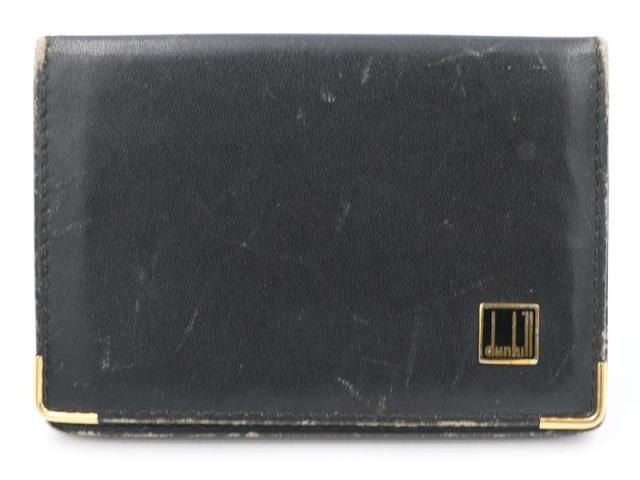 〇値下げ 送料無料【dunhill ダンヒル】2つ折り カードケース レザー ブラック メンズ 70491-21