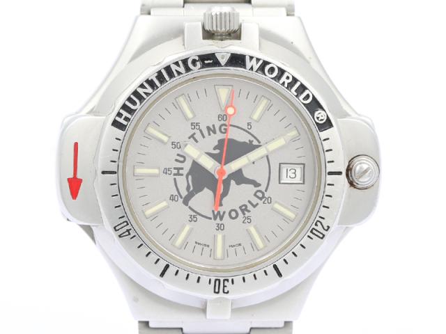 【HUNTING WORLD ハンティングワールド】スポータバウト コンパスウォッチ メンズ クォーツ 保証書 新着 70992-3