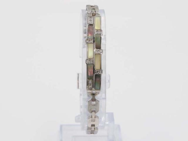 ☆新着【K18WG ホワイトゴールド】ブレスレット ダイヤモンド0.16ct シェル 16.7g レディース 7390-0