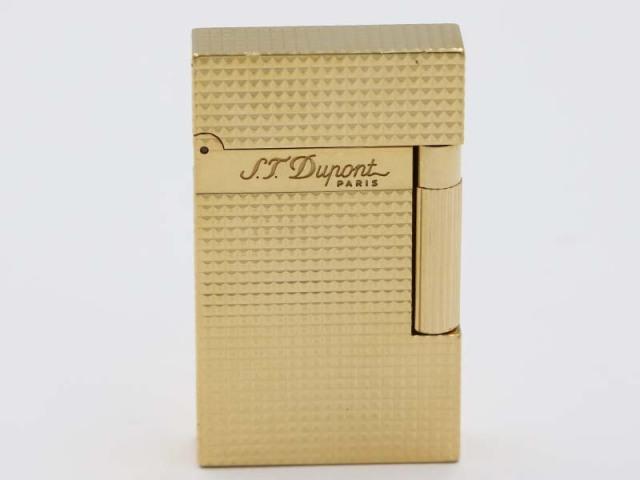 〇新着 送料無料【S.T.Dupont デュポン】16284 ライン2 ダイヤモンドヘッド ガスライター イエローゴールドフィニッシュ 76137-2