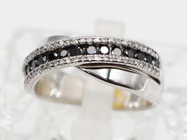 ☆新着 送料無料【K18WG(ホワイトゴールド)】 指輪 リング ダイヤモンド0.70ct 8.5g 16.5号 レディース 7705-0