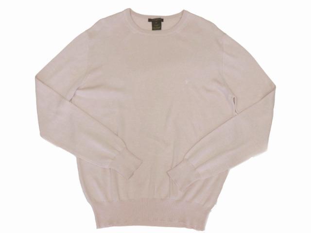 〇新着 送料無料【LOUIS VUITTON ルイヴィトン】 コットン クルーネックセーター サイズS ピンク イタリア製 メンズ 8746-0