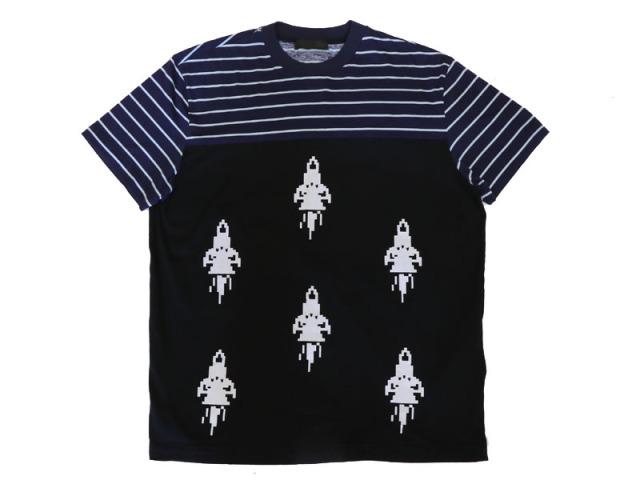 〇新着【PRADA プラダ】コットン100% Tシャツ サイズL ルーマニア製 メンズ 8750-0