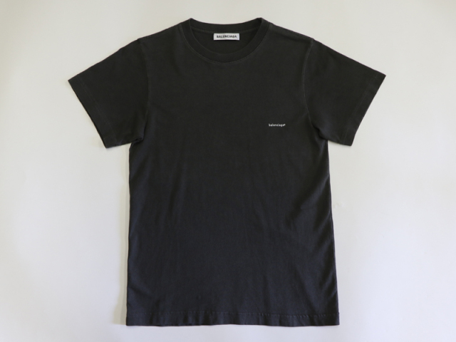 〇新着 送料無料【BALENCIAGA バレンシアガ】コットン Tシャツ サイズXS グレイ ポルトガル製  レディース 8769-0