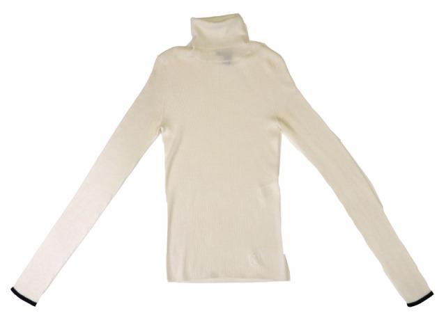 〇新着【LOUIS VUITTON ルイヴィトン】 ウール タートルネックセーター サイズXS オフホワイト レディース 8783-0