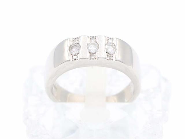 ☆メンズジュエリー【PT900 プラチナ】指輪 リング ダイヤモンド0.35ct 18号 11.7g 8893-0