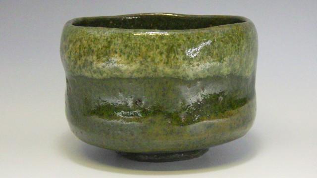 潤甫 作(屋島焼緑楽抹茶茶碗)