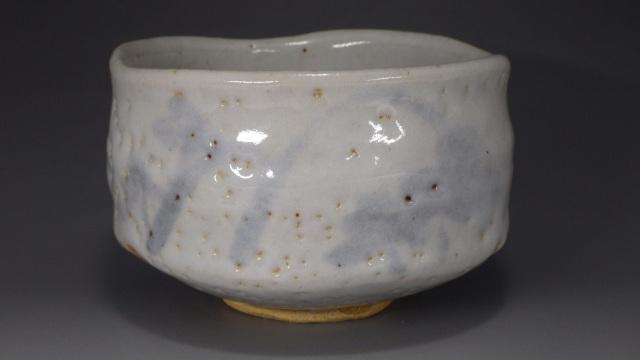 秀山 作(美濃焼志野抹茶茶碗)