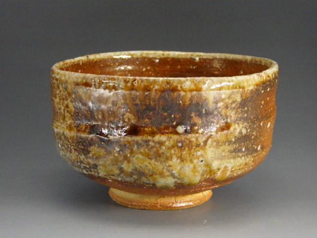 西尾端舟(信楽灰釉抹茶茶碗)