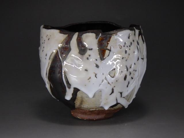 大西雅文(丹波炭化長石鉄釉抹茶茶碗)