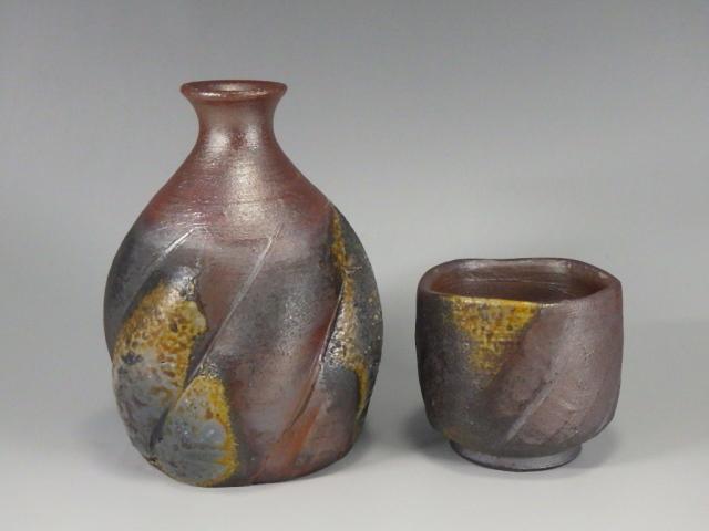 稗田寿炎(備前窯変酒器組)