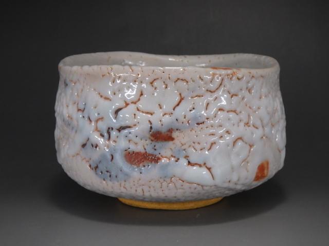 加藤秀山(紅絵志野抹茶茶碗)