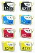 エプソン IC4CL62 互換●安心サポート付 8本お好みセット 【送料無料】