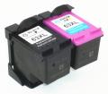 送料無料 安心一年代替補償 hp 63XL 増量 リサイクル 2個セット(黒1個+カラー1個) インク残量表示 ENVY 4520 OfficeJet 4650 5220