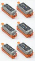 キャノンBCI-19 BK/CLR●互換インク 安心サポート付●ブラックカラー各3本計6本【送料無料】
