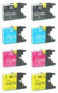 ブラザーLC12 お好み8本セット●互換インク 安心サポート付● 【送料無料】