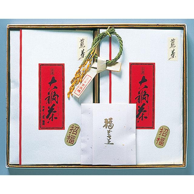 大福茶 OF-20 煎茶(50g×2)、梅5個、昆布5個、金箔、吉兆縄