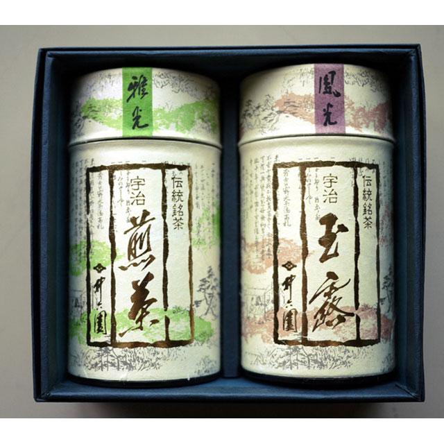 【お歳暮ギフト期間限定:送料無料!】IRK-40 玉露 (鳳光/100g) 煎茶 (雅光/100g)