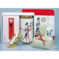 大福茶 OF-30 煎茶150g、梅10個、昆布10個、金箔、吉兆縄、干支置物